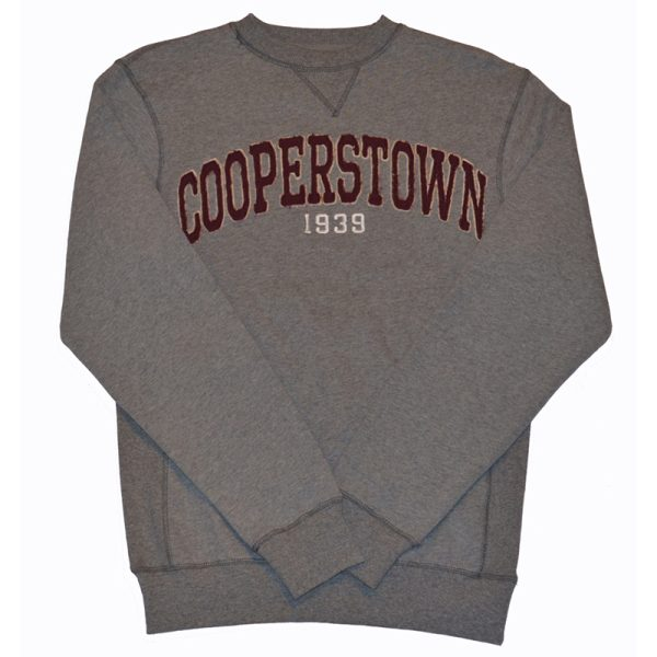 Men's Cooperstown Gray Crewneck Sweatshirt